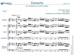 CONCERTO di Francesco Lecce con riduzione per mandolino e pianof