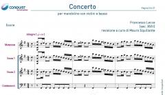 CONCERTO di Francesco Lecce per mandolino con violini e basso